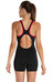 speedo Endurance+ Monogram Legsuit Women black/magenta